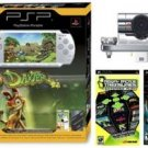 PS Portable Psp01Slim Ultimate Bundle - Silver Bundle W/ Daxter 1gb Memory Psp Camera, 22 More Games