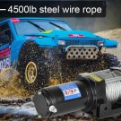 Offroad 4500LB Electric Winch UTE 12V Electric Remote Steel Wire Kit