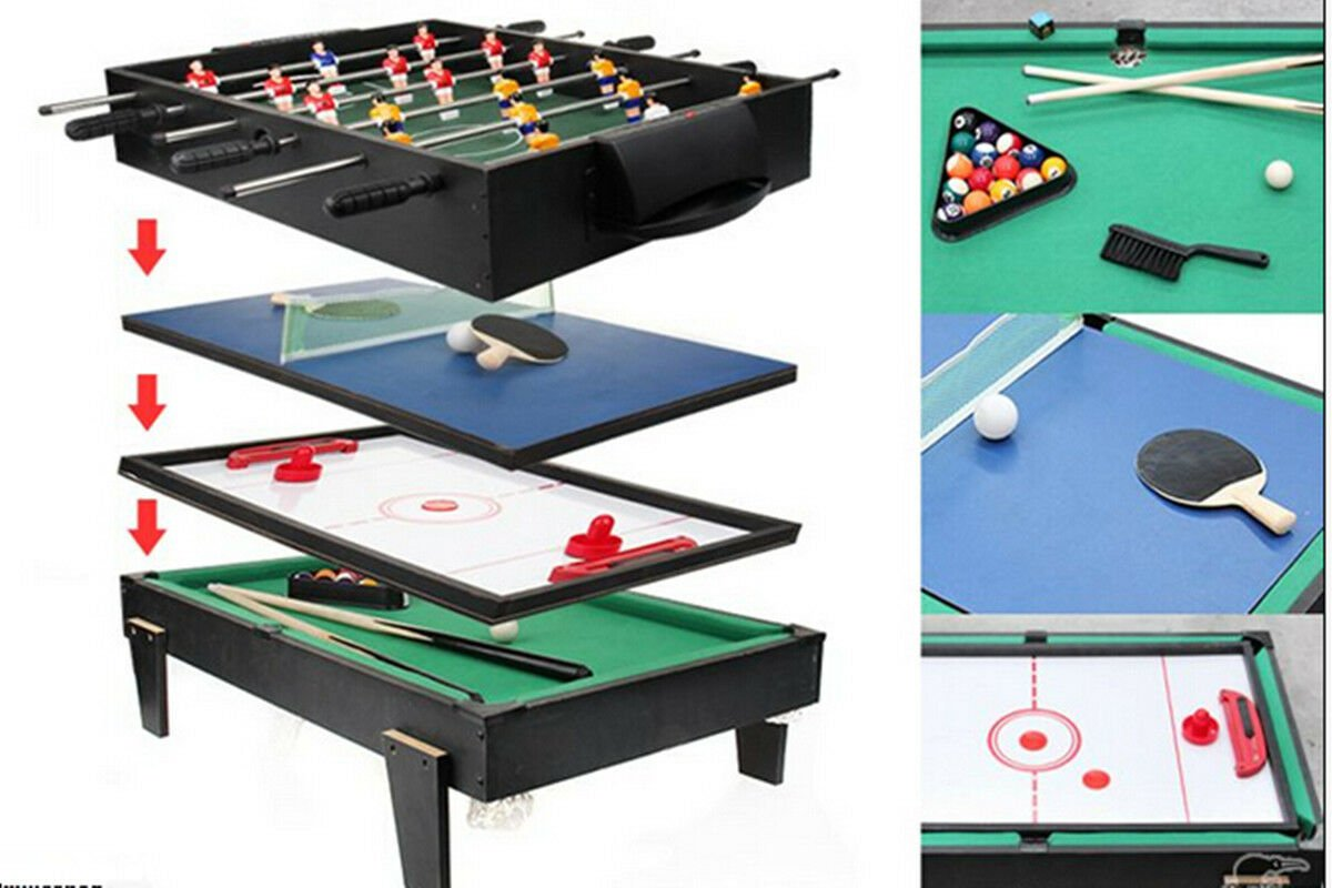 4 in 1 Multi Game Table Pool / Air Hockey / Table Tennis / Table Soccer