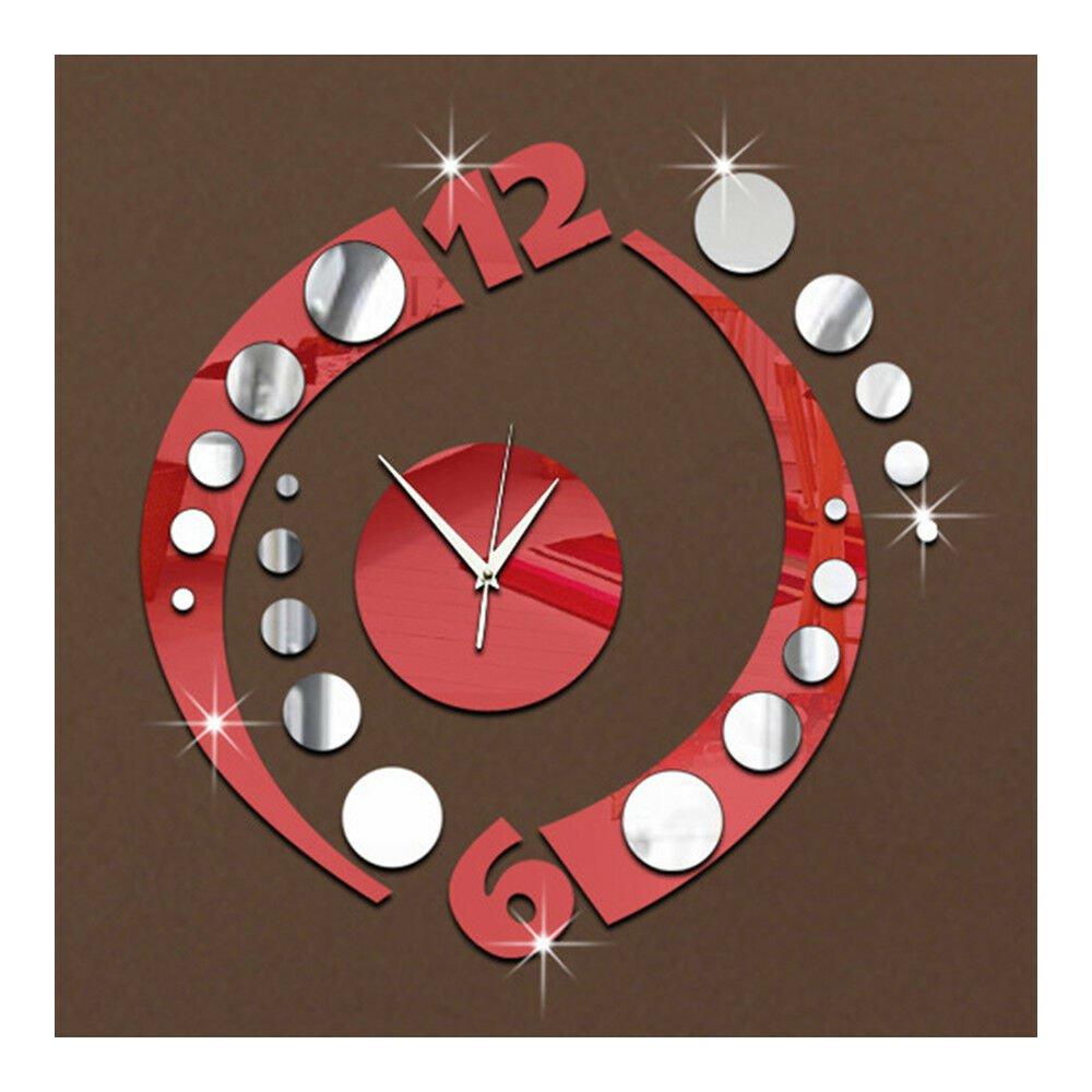 Creative Wall Clock Arc Acrylic 3D Mirror