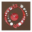 Creative Wall Clock Arc Acrylic 3D Mirror
