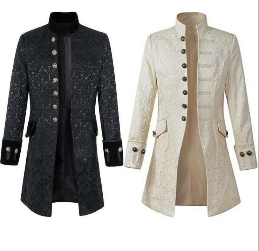 Victorian Steampunk Vintage Asymmetrical Tux Tailcoat tuxedo White or Black