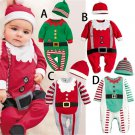 Infant Chrismas Dress Coveralls Baby Costumes with hat to 18 month A Style