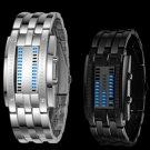 Waterproof Creative Date Digital LED Luminous steel Men Women Bracelet Watch