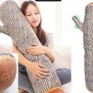 Cushion Bolster Pillow Wood Log Tree Stump Design 94cm x 20cm