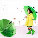 Cute cartoon Animal Umbrella For Children Kids ears Bend handle