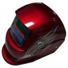 Jackson Auto Darkening Welding Helmet in Red Shade with Amazing Graphic Design