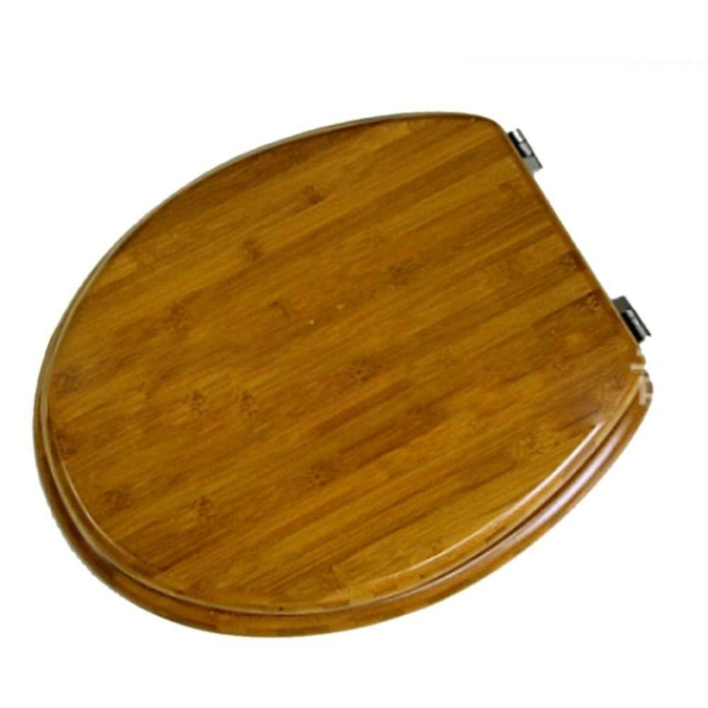 Bamboo Solid Wood No Slow Descent Toilet Seat    MZ01 bamboo dark