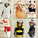 Kids Vest With Animal Hoodie Plush Fluffy Warm Jacket Great Gift For Children