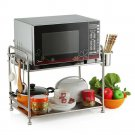 kitchen shelving storage rack multifunction microwave oven rack stainless steel