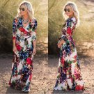 Romantic Blossom Charm Floral Boutique Maxi Long Party Dress