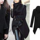 Womens Gorgeous  Chic Convertible Asymmetric Wrap Blazer Coat Jacket