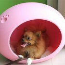 Cute Egg-Shaped Pet House Puppy Doggie Cat Small Animal Indoor Bed, PINK.
