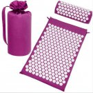 Back Neck pain relief acupressure mat with pillow  and carrying bag massage