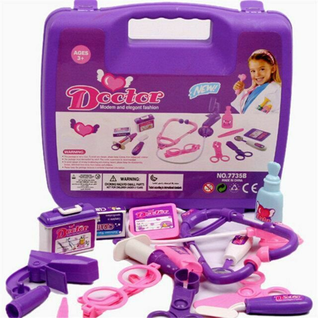 Girl Boy Baby Kids Doctor's Play Set & Carry Case Kit Education Role Play Toy