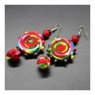 Cloth Style Long Earrings Creative Costume Knot