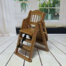Folding Wooden Baby Highchair High Chair Reclining Booster Seat Recliner Foldabl