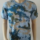 Mens' Camouflage Camo Military Army Outdoors Hunting Fishing T Shirt Cotton Blu