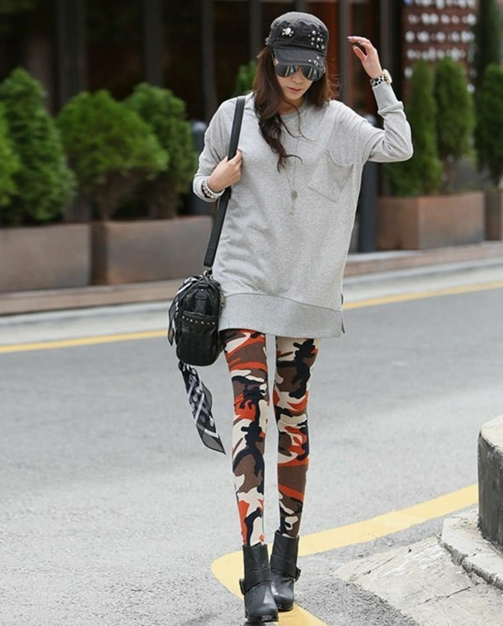 Womens Sexy Camouflage Camo leggings Stretchy fit Fashion skin pants trousers