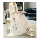 Vintage China Traditional   Style Loose Fit 2pcs Imitation Suit Evening Dress