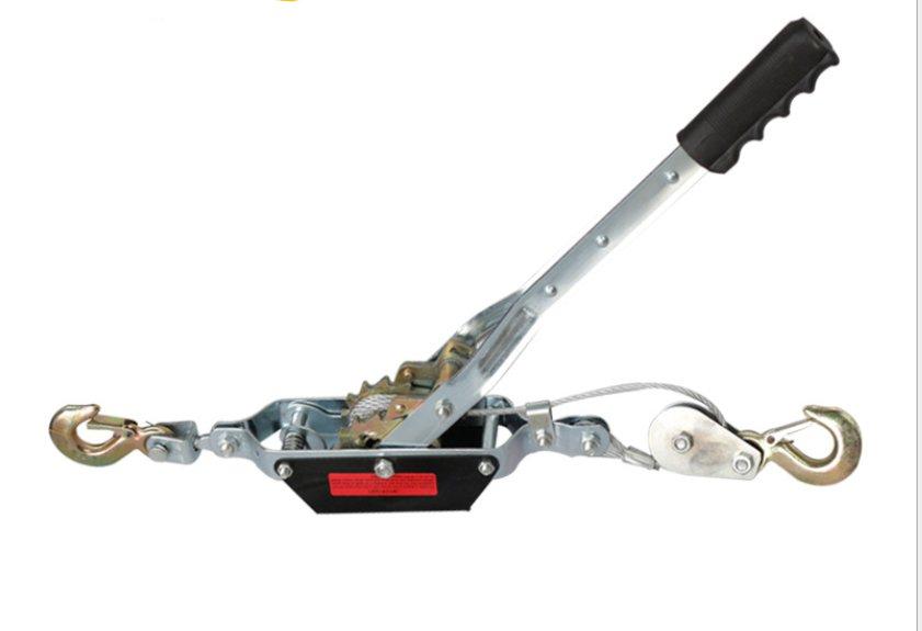 Winch 1T 2T 4T Manual Steel Hand Winch Puller 2 Hooks Tool Hoist Car Trailer
