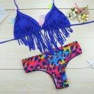 Swimwear Swimsuit Tassel Leopard Print Bikini leopard print