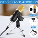 Professional USB Condenser Microphone Studio Recording PC MIC with Stand Tripod