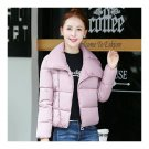 Winter Short Down Coat Woman Thick Warm Fashionable   light pink