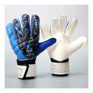 Child Teenager Goalkeeper Gloves Roll Finger  blue  S