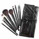 Makeup Real Goat Hair Soften Brush Set 9pcs in a Black Carrying bag