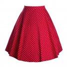 Polka Dot Bust Skirt A-line Skirt  red