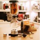 Vintage Japan Style 3-cup Siphon glass vacuum brew espresso machine coffee maker