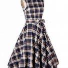 Scottland Dress Rockabilly Swing Vintage 80's 1950s 50's Pinup Dress Blue