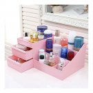 Drawer Type Organizer Comestics Sotrage Box Pink