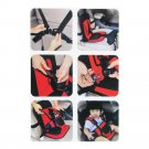 Multifunctional child car safety seat baby seat child safety seat belt chair red