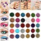 30 Colors Pro Makeup Glitter Powder Pigment  Mineral Spangle Eye Shadow Nail art