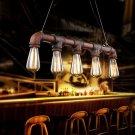 Vintage Industrial Pendant Light Antique Water Pipe Hanging Lamp