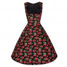 Boob Tube Top Pleated Skirt Strawberry Dress