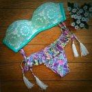 Swimsuit Swimwear Bathing Suit Floral Printing 2pcs Bikini