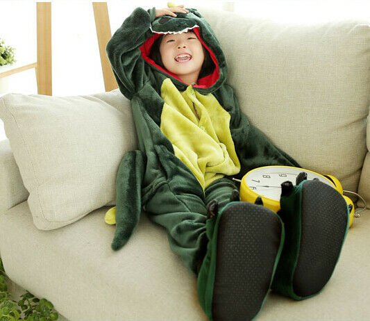 Kids Cute Cartoon Sleepwear Pajamas Cosplay Costume Animal One-piece Fancy 05