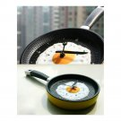 Creative Fried Egg Pan Wall Clock Silent