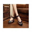 Colorful Phoenix Embroidered Shoes High Heeled Shoes Woman Cloth Shoes