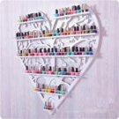 Iron multilayer polish display rack creative heart shaped perfume rouge cosmetic