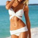 Push-Ups Triangle Bikini Bathing Suit Swimwear Swimsuit  white