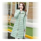 Winter Down Coat Woman Middle Long Thick Light Plus Sizeight green