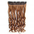 "24"" 60cm Long Colorful Straight Hair  5 Clips hair extenstion Curly Solid Color"