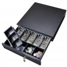 Cash Drawer Safe Box 5 Bill 5 Coin Tray for POS Printer Store Money Lock Storage