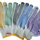 White Cotton Gloves with Anti-slip Point and Elastic Knit Wrist Regular Size