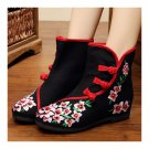 Vintage Beijing Cloth Shoes Embroidered Boots 12-02