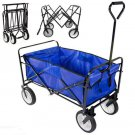 Collapsible Beach Wagon Folding Camping Utility Cart Outdoor Support up to 150kg